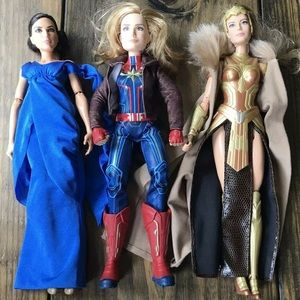 DC Comics Marvel Barbie Doll Lot Bundle